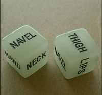 Geek | One Pair Luminated Adult Dice Love Sexy Kiss Touch Romance Funny Exciting Erotic Gaming Bachelor Party Novelty Toy Gift Noctilucence  Dice