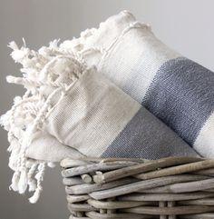 Turkish Towel - Linen - Grey with Wide Stripes Textiles, Fibre Textile, Striped Towels, Striped Linen, Pool Towels, Bath Towels, Turkish Towels, Turkish Bath, Linen Towels