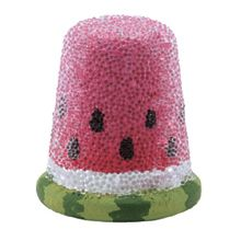 Sparkling Beaded Watermelon thimble will be a sweet, juicy addition to those who collect them.
