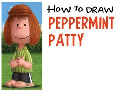 How to Draw Peppermint Patty from The Peanuts Movie Easy Step by Step Drawing Tutorial