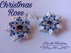 PDF CHRISTMAS ROSE earrings di NicoleOverTheRainbow su Etsy