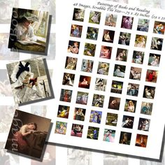 Paintings of Books and Reading Printables Part by imagesbythebook