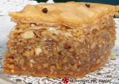 Greek Sweets, Greek Desserts, Greek Recipes, Desert Recipes, Sweets Recipes, Cookie Recipes, Baklava Cheesecake, Greek Cake, Greek Pastries