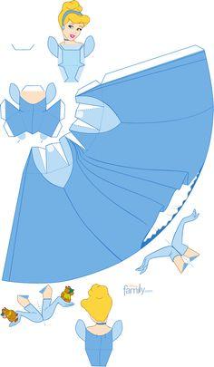 Cinderella Papercraft Printable 0210 | Scribd