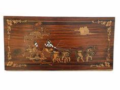 Lord-Krishna-Preaching-Gita-to-Arjuna-India-Marquetry-Inlaid-Wood-Art-Picture-Pl