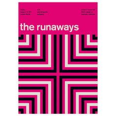 The Runaways, 1977 17x23.75  by Swissted by Stereotype