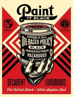 Shepard Fairey, Paint it black