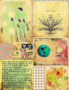 INSTANT DOWNLOAD - Art Journal Digital Collage Sheet
