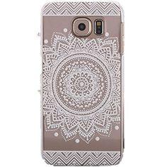 S6 Case,Samsung Galaxy S6 Case,Campanula Mandala Floral Dream Catcher Case Cover for Samsung Galaxy S6