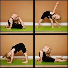 Yoga for children; positive parenting; Learning about your body. I think this is adorable and a great hobbie for kids to get into!