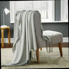 Knitted Throw Rug / Bed Runner With Tassel. This Cosy Feel Throw Rug Is A  Perfect Addition To Bring Warmth And Comfort Into Your Home.