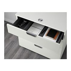 IKEA - GALANT, Drawer unit, white, , 10-year Limited Warranty. Read about the terms in the Limited Warranty brochure.You choose your own code for the combination lock and safely store your papers and office supplies.Drawers with integrated dampers close slowly, silently and softly.Drawers with a stop keeps them in place.
