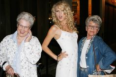 Taylor swift rocking it with some older women!