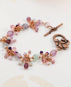 Fringe Dangle Gemstone and Crystal Copper by JewelrybyChar on Etsy, $34.00