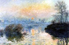 pinturas de claude monet puesta del sol - Buscar con Google