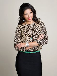 Office - Smart & Sassy!  Leopard is the new neutral! #personalbrand #officeattire