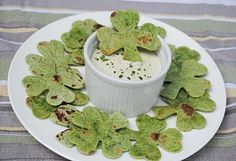 zakka life: Recipe: Shamrock Chips (Will make w/GF tortillas)