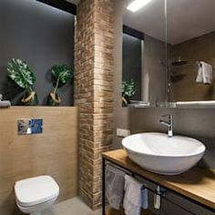 Lirowa industrialna kuchnia od kodo projekty i realizacje wnętrz industrialny   homify Washroom, Malaga, Home Art, Toilet, Loft, Interior Design, Mirror, House, Furniture