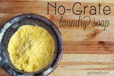 No Grate Laundry Detergent Trick