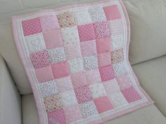 Handmade Patchwork Quilt - Play Mat with Appliqued Stars -- 34 x 40 x HAND QUILTED AND HAND FINISHED . The Quilt has polyester wadding. Machine washable on 30 degrees gentle/wool wash - dry flat. As all the quilts are listed elsew Quilt Baby, Baby Patchwork Quilt, Baby Clothes Quilt, Cot Quilt, Applique Quilts, Children's Quilts, Beatrix Potter Fabric, Wool Wash, Bed Throws
