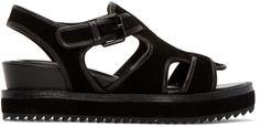Opening Ceremony - Black Suede Tati Sandals