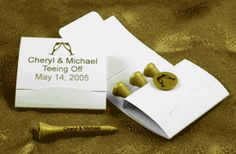 STEPH, Miah would love these!!!  Golf Wedding Tee Matchbooks