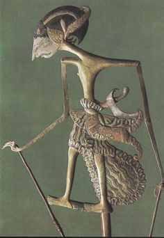 Puppet of the Indonesian wayang shadow theater