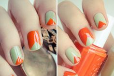 Wow!! So easy! All u have to do is put tape in a triangle and paint it any color!