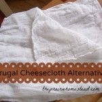 A (Frugal) Cheesecloth Alternative... Cloth diapers!