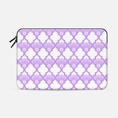 CASETiFY MacBook Pro Retina Case - Moroccan lavender bloom sleeve by Best Laptops, Macbook Pro Retina, Laptop Bags, Tech Accessories, Casetify, Zip Around Wallet, Lavender, Geek Stuff, Bloom