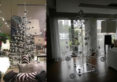 StaA.R.T. acrylic christmas trees Materials:  acrylic Dimensions:  per style - please inquire Options:  Standard Spear Version: 4' / 6' / 8'  Bionic LED Version: custom made to order - please inquire  *These pieces are custom made to order - please inquire as to custom commissions.ndard Clear Rod 8' Christmas Tree