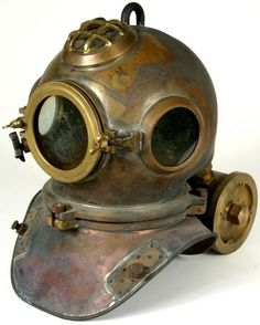 Vintage brass dive helmet