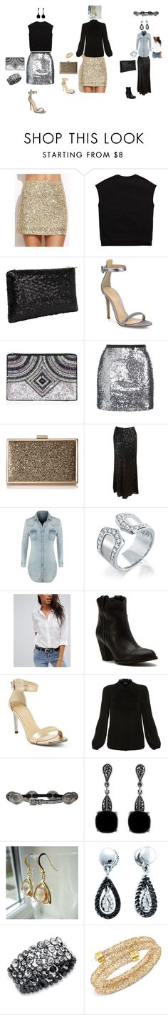 """""""New Years Eve Ready"""" by stephsouthstyle on Polyvore featuring Gianvito Rossi, Boohoo, Topshop, Bill Blass, LE3NO, Bling Jewelry, Pieces, Frye, BCBGMAXAZRIA and Elie Tahari"""