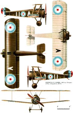 Sopwith F.1 Camel Unit: 3 Sqn, RFC Serial: A (B6234) Pilot - 2nd Lt L.G.Nixon. On 5th December 1917 he emergency landed and POW. The a/c equipped wi...