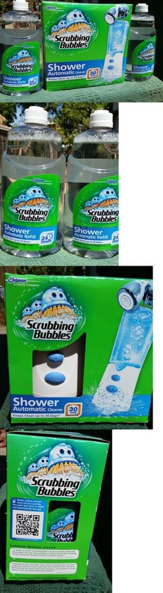 Cleaning Products 20605: New Scrubbing Bubbles Automatic Shower Cleaner Kit  + 2 Extra 32Oz Refills