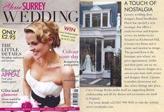 Your Surrey Wedding magazine, the new Circa Vintage Brides Boutique on Richmond Hill
