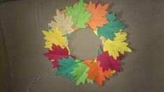 Őszi koszorú papírból