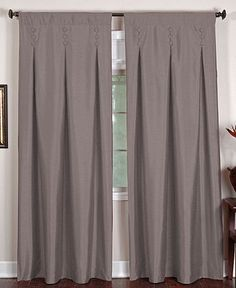 Elrene Window Treatments, Imperial x Panel - Curtains & Drapes - for the home - Macy's Country Window Treatments, Door Window Treatments, Window Coverings, Extra Long Curtains, Room Darkening, Drapes Curtains, Drapery, Sliding Glass Door, Windows