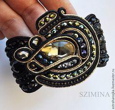 Купить Браслет Тайна вселенной - хаки, сутажный браслет, сутажный браслет подарок, сутаж, кристалл