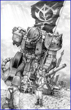 Zeon infantry and a fallen zaku.  I don't know the Manga.