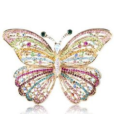 I have a collection of costume jewelry brooches. I prefer the colorful rhinestone ones over the hand-painted ones.   kj