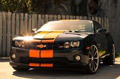 Orange on black Chevy Gen5 Camaro