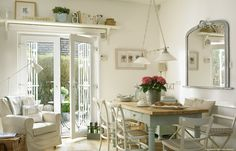 The kitchen dining area in Marie and Alan McMillen's 1920s cottage style bungalow near Holywood in County Down.