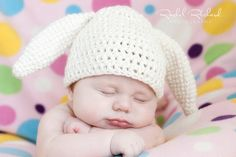 Easter Bunny Baby Hat  READY TO SHIP Toddler 1 to 3 by TCTbaby, $25.00