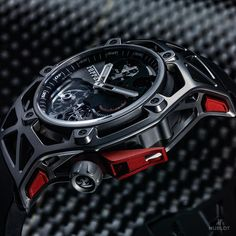 NEW Hublot Techframe Ferrari, a Ferrari design for a Hublot watch celebrating Ferrari's 70th Anniversary.