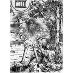 St John Devouring the Book Albrecht Durer (1471-1528 German) Engraving Canvas Art - Albrecht Durer (24 x 36)