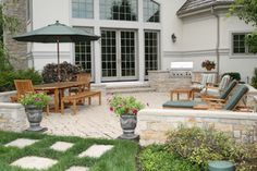 Outdoor Living Room - traditional - patio - chicago - by Schmechtig Landscapes