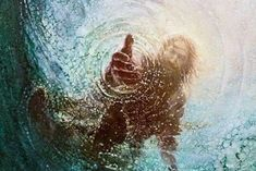 jesus christ reaching into water Perfect Peace, Peace And Love, Jesus Walk On Water, Pictures Of Christ, Religious Pictures, Meridian Magazine, 5d Diamond Painting, God Jesus, Religious Art