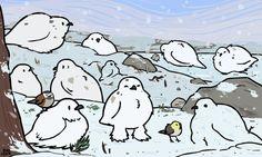 Snow puffs.