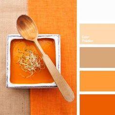 New kitchen colors combos design seeds ideas Orange Color Palettes, Colour Pallete, Color Combos, Orange Palette, Orange Color Schemes, Orange Paint Colors, Warm Color Schemes, Wall Colors, Vibrant Colors